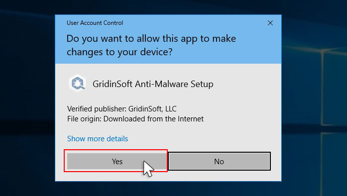 GridinSoft Anti-Malware Setup