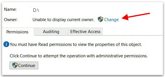 Unable to display current owner