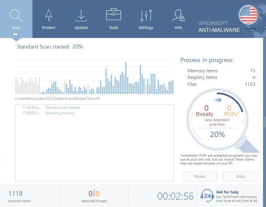 GridinSoft Anti-Malware Scan