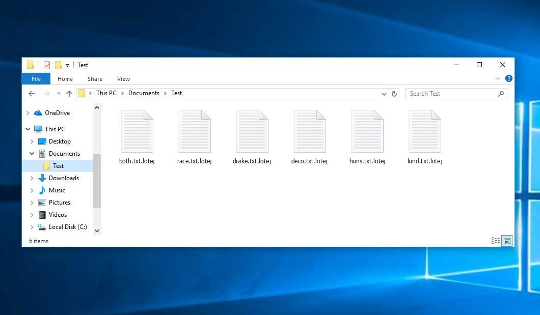 Lotej Virus - crypted .lotej files