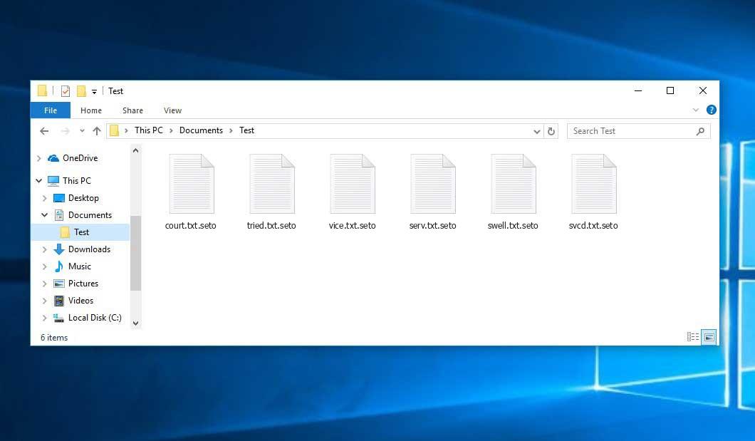 Seto Virus - crypted .seto files