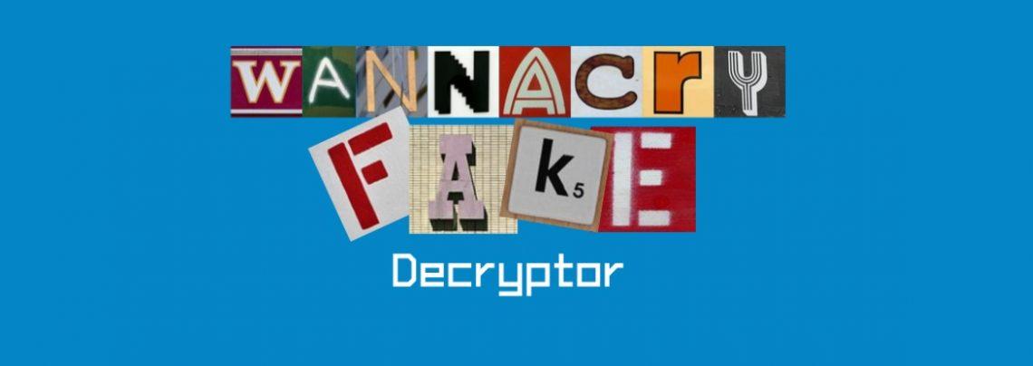 Download free WannaCryFake decryptor